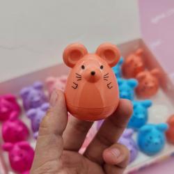 """Бальзам для губ """"Мышка"""" с фруктовыми запахами (Малина+Апельсин)"""