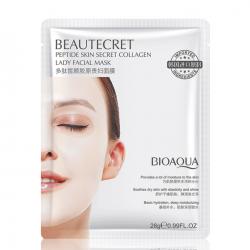 Восстанавливающая коллагеновая маска для лица с пептидным комплексом BIOAQUA Beautecret Peptide Skin Secret Collagen Lady Facial Mask
